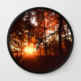 Dawn in the Woods Wall Clock