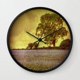 Tree In A Field Wall Clock