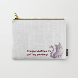 Greeting for Quitting Smoking- Cats Carry-All Pouch