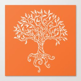 Tree of Life Orange Canvas Print