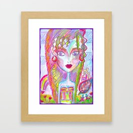 Little Bloomy Framed Art Print