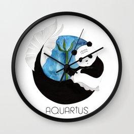 Panda Zodiac Aquarius Wall Clock