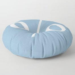 percent sign on placid blue color background Floor Pillow