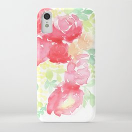Red Blooms with Wattle iPhone Case