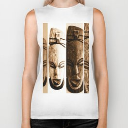 mother earth ancient goddess Biker Tank