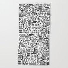 letter Y - games Beach Towel