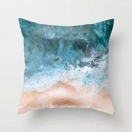 Soft Beach Breeze Throw Pillow