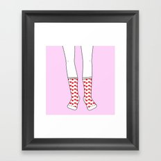 Sweetheart Socks Framed Art Print
