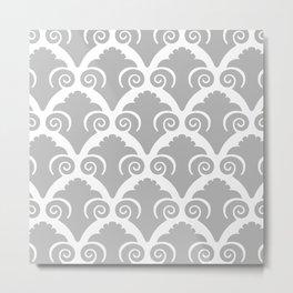 Scallop Pattern gray Metal Print