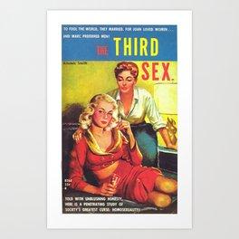 Lesbian Sex Exploitation Vintage Cover Art Print