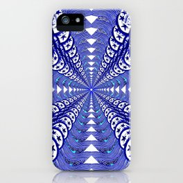 Blooming Blue iPhone Case
