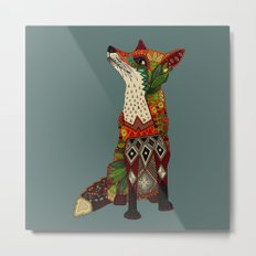 fox love juniper Metal Print