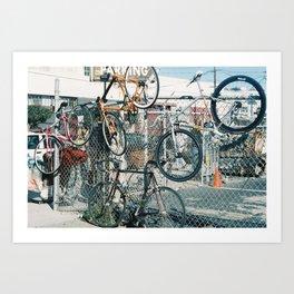 Bike parking Art Print