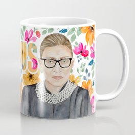 Ruth Bader Ginsburg Watercolor Coffee Mug