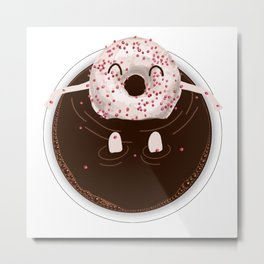 Donut Coffee Bath Metal Print
