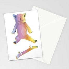 Skater Kitten Kickflip Stationery Cards