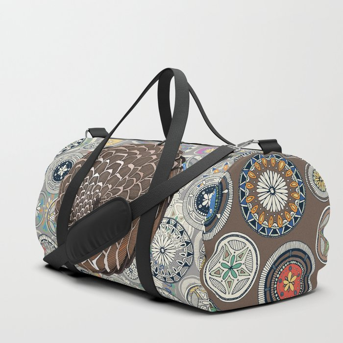 pangolin mandala Duffle Bag