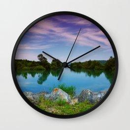 Lake in France Wall Clock
