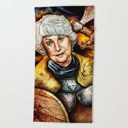 """Picture it: Sicily 1061"" Golden Girls- Bea Arthur Beach Towel"