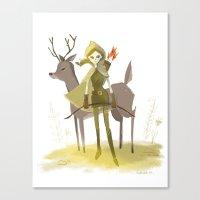 robin hood Canvas Prints featuring Robin Hood by Doreen Marts