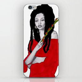 Girl with Flowers iPhone Skin