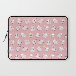 Baby Barn Owls - pink Laptop Sleeve