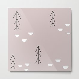 Trees and half moons Metal Print