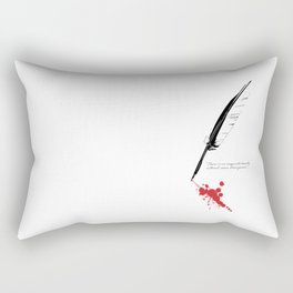 Edgar Allan Poe - Strangeness Rectangular Pillow