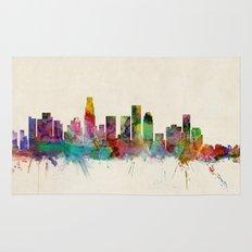 Los Angeles City Skyline Rug