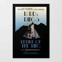 lotr Canvas Prints featuring LOTR The Return of the King Minimalist Poster by Sean Breeding Arthouse