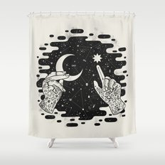 Look to the Skies Shower Curtain