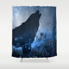 Twilight Wolf Shower Curtain