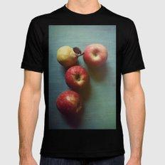 Autumn Apples Mens Fitted Tee Black MEDIUM