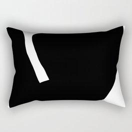 Nude silhouette figure - Nude black 001 Rectangular Pillow