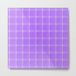 Plaid_Purple Metal Print