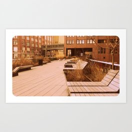 Empty High Line in Fall Art Print