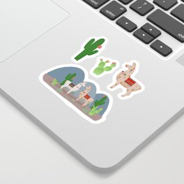 Cute Llamas Illustration Sticker