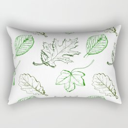 Leaves (greens) Rectangular Pillow