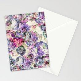 Vintage bohemian rustic pink lavender floral Stationery Cards