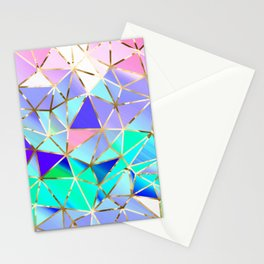 Rainbow Geometric pattern #6 Stationery Cards