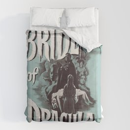 Brides of Dracula, vintage horror movie poster Comforters