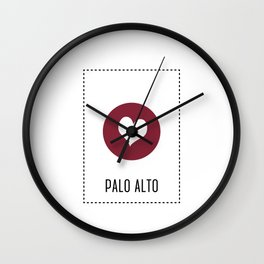 I Love Palo Alto Wall Clock