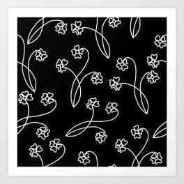 flor blanca Art Print
