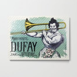 Marguerite Dufay playing the trombone Metal Print