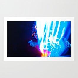 Windy Waves - Lightwriting Art Print