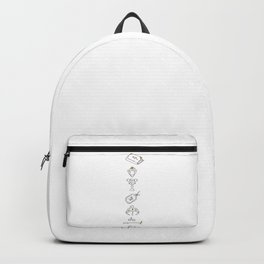 Mystical Objects Illustration Backpack