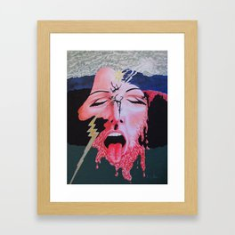 She's a Bit Touched Framed Art Print