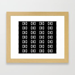 Barbed Wire Black and White Pattern Framed Art Print