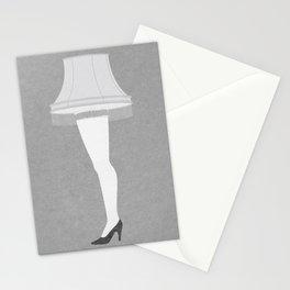 Leg Lamp Grey Stationery Cards
