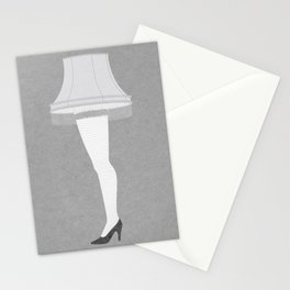 Leg Lamp Grey Stationery Cards